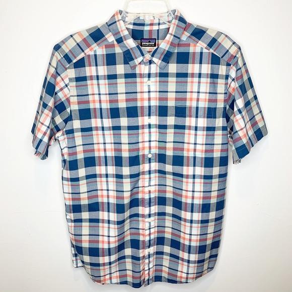 Tartan Love Mens Button Down Short Sleeve Shirt